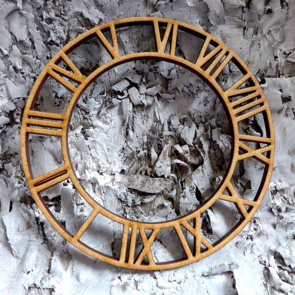 Artful Days MDF - Large Roman Clock 12cm (ADM025)