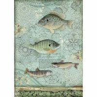 Stamperia Forest Rice Paper A4 Fish (DFSA4428)