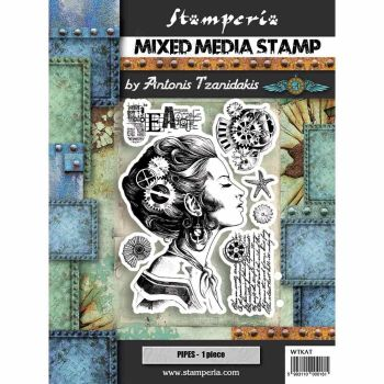 Stamperia Sea World - Mixed Media Stamp - Lady (WTKAT09)
