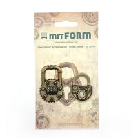 mitFORM Padlocks 1 Metal Embellishments (MITS043)
