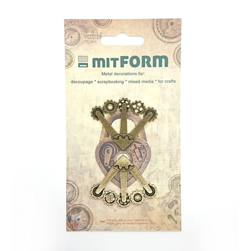 mitFORM Corners 5 Metal Embellishments (MITS020)