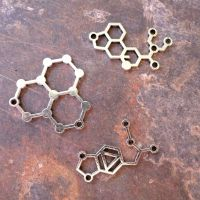 Silver Chemistry Molecule Charms (C030)