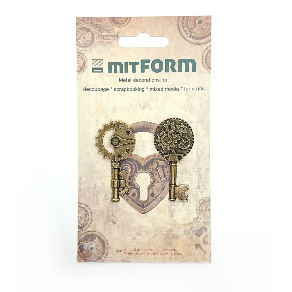 mitFORM Keys 1 Metal Embellishments (MITS036)