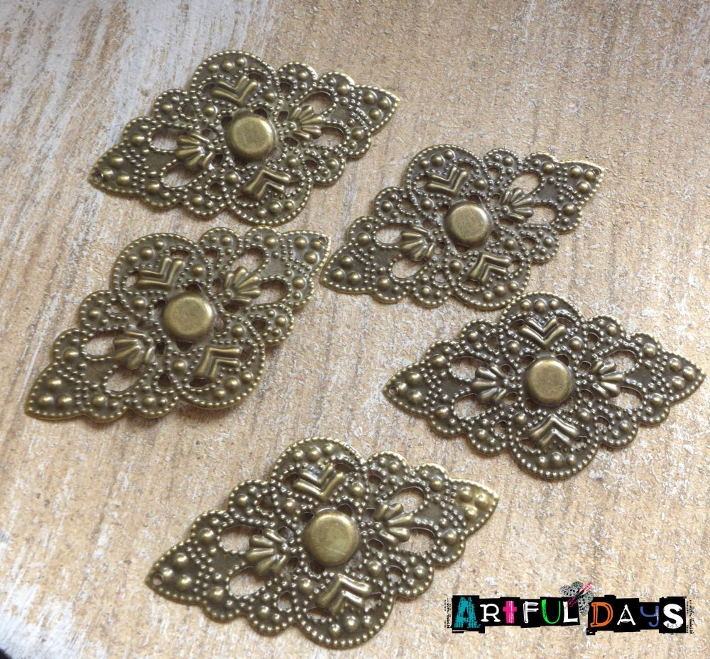 Bronze Filigree Wrap (C075)