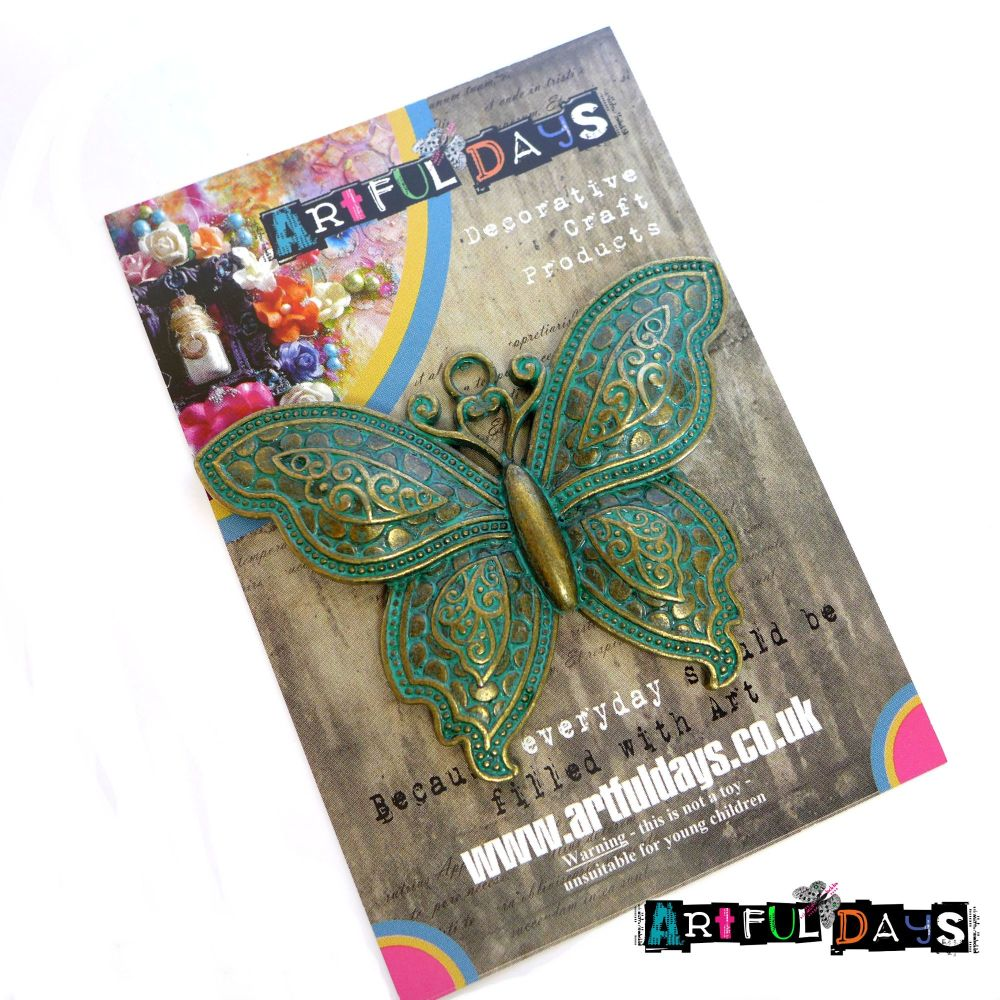 Treasured Artefacts - Large Patina Butterfly (TA231)