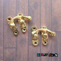 Pair of Gold Latch Locks (H2015)