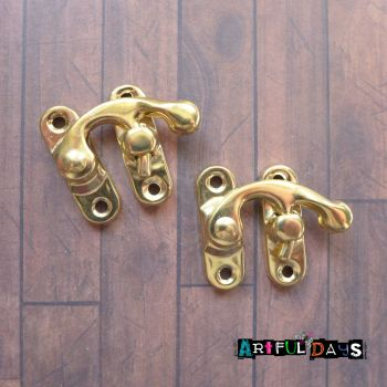 Pair of Gold Latch Locks (H2015)