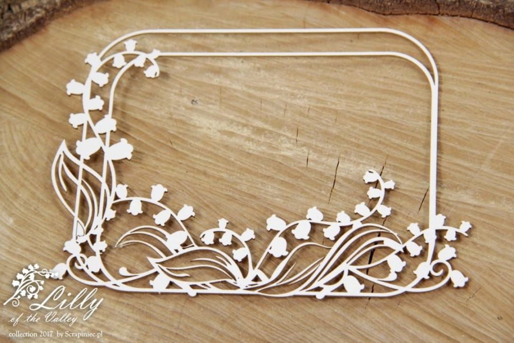 Lilly of the valley - rectangle frame 02 (4505)