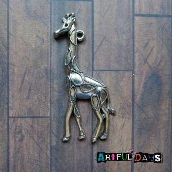 Silver Giraffe Charm (C053)