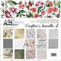 """Crafters bundle 2"" - Scrapbooking Paper Set 7x 12'x12'"