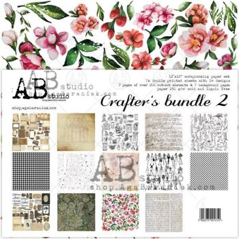 """Crafters bundle 2"" - Scrapbooking Paper Set 7x 12'x12'"