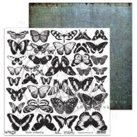 """Elements - Scrapbooking Paper 12 x 12"""" - White Butterfly"""