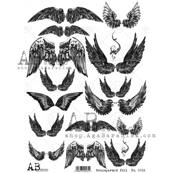 Transparent foil 0011 - Assorted Wings