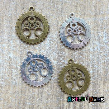 Gear & Cog Clock Charms (C050)