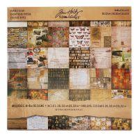 Idea-ology Tim Holtz Mini Stash 8x8 Inch Collage Sheets (TH93054)
