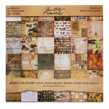 Idea-ology Tim Holtz Mini Stash 8x8 Inch Collage Sheets (TH93054)