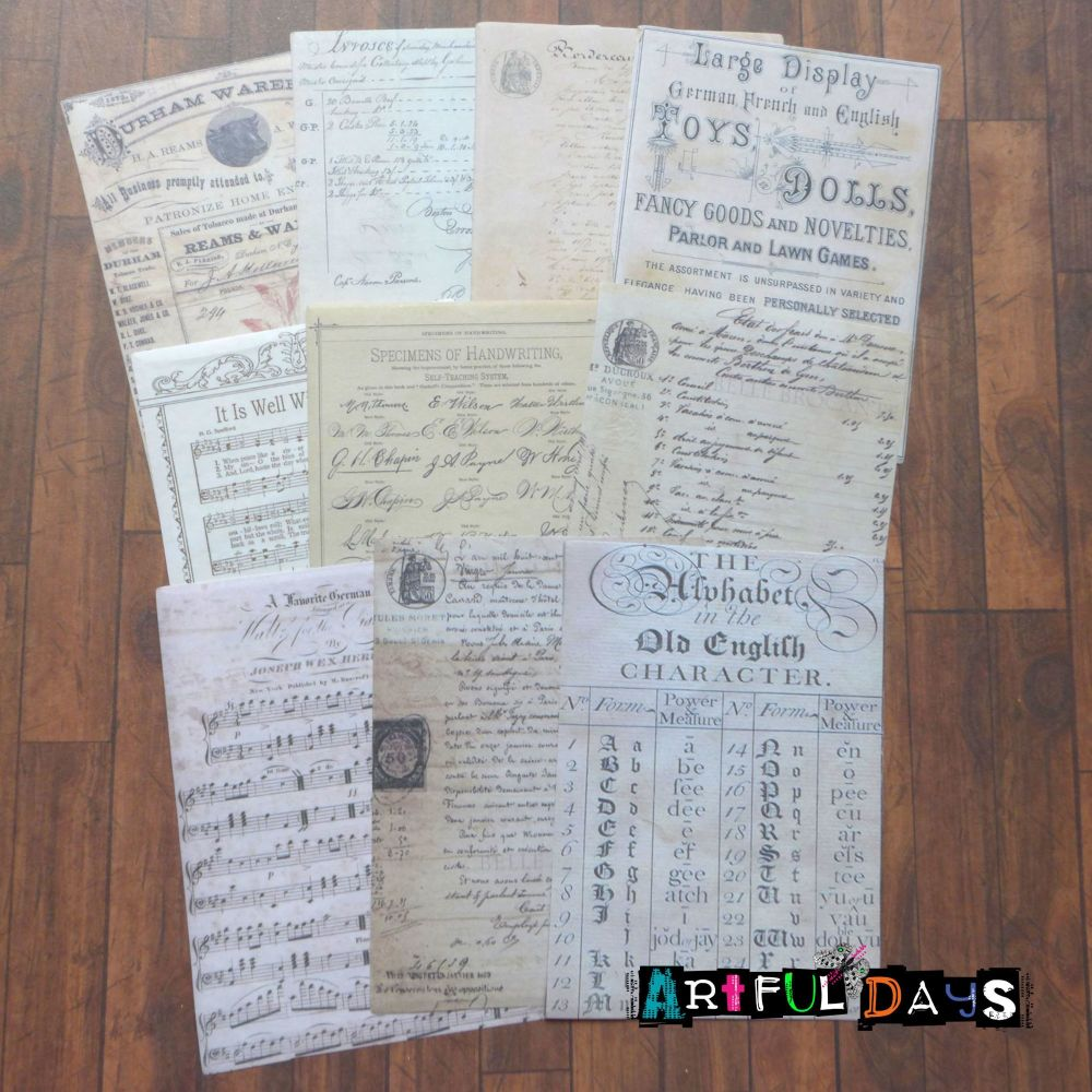 Vintage Receipts (PA029)
