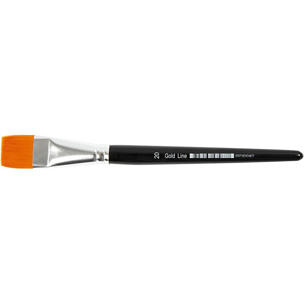 Gold Line Brush - size 20 flat