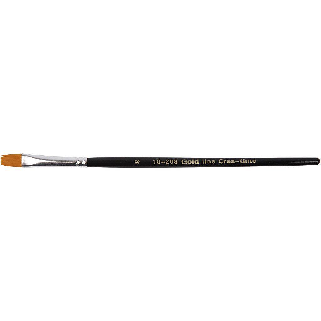 Gold Line Brush - size 8 flat