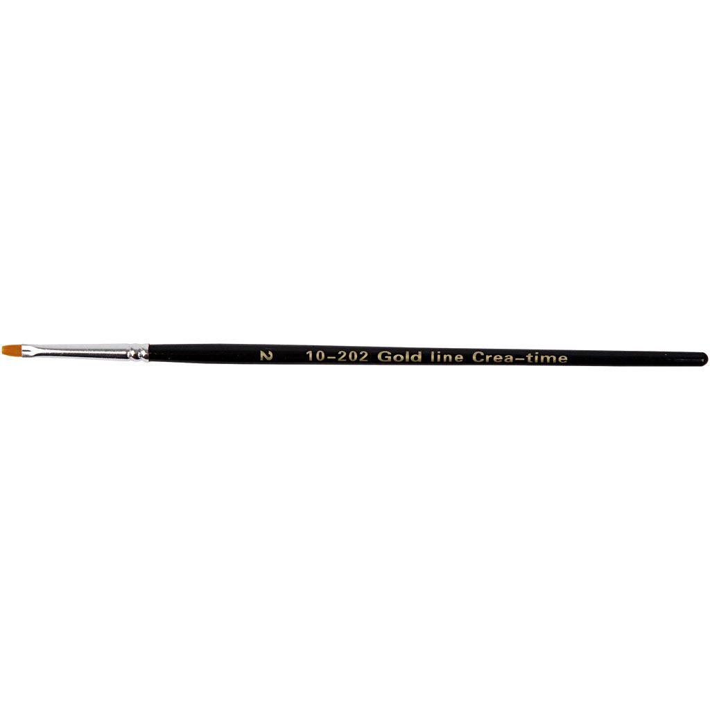 Gold Line Brush - size 2 flat