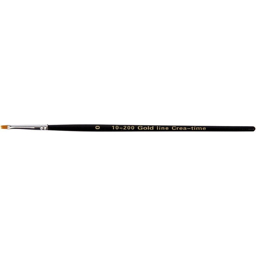 Gold Line Brush - size 0 flat