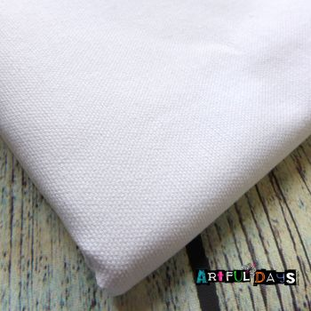 Material - White Cotton Canvas(150 x 56cm)