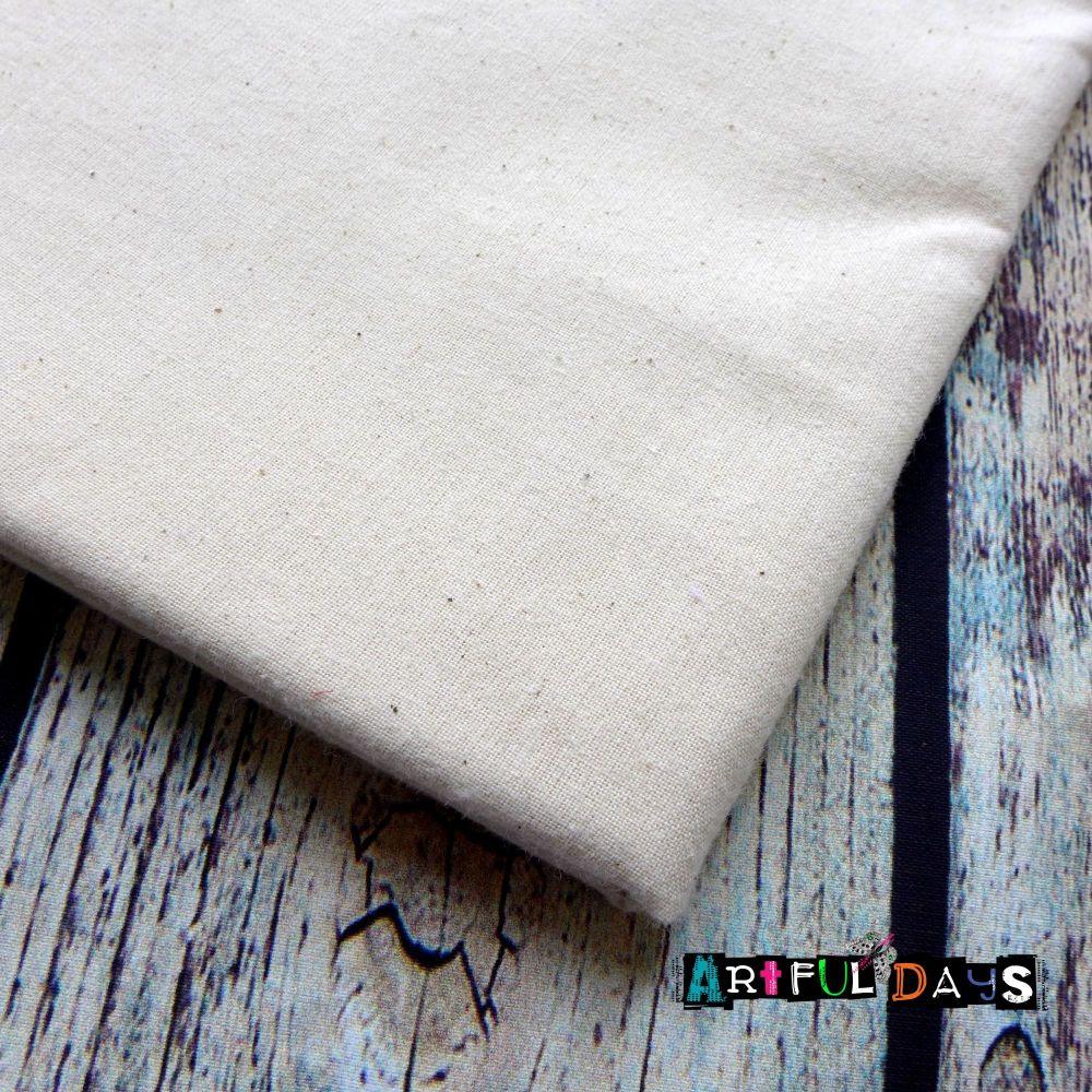 Material - White Cotton Canvas(150 x 56cm)