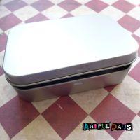 Silver Hinged Storage Tin (110x80x25mm)
