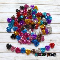 100 Mini Metallic Rose Flowers  (E5024)