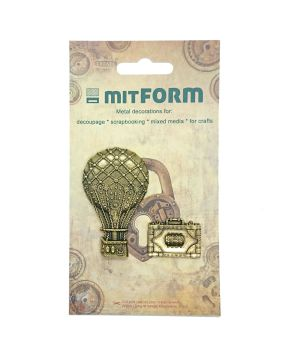 mitFORM Travel 4 Metal Embellishments (MITS052)