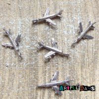 Silver Airplane Charms (C161)
