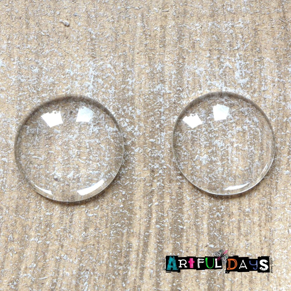 Glass Dome Cabochons - 30mm (GL011)