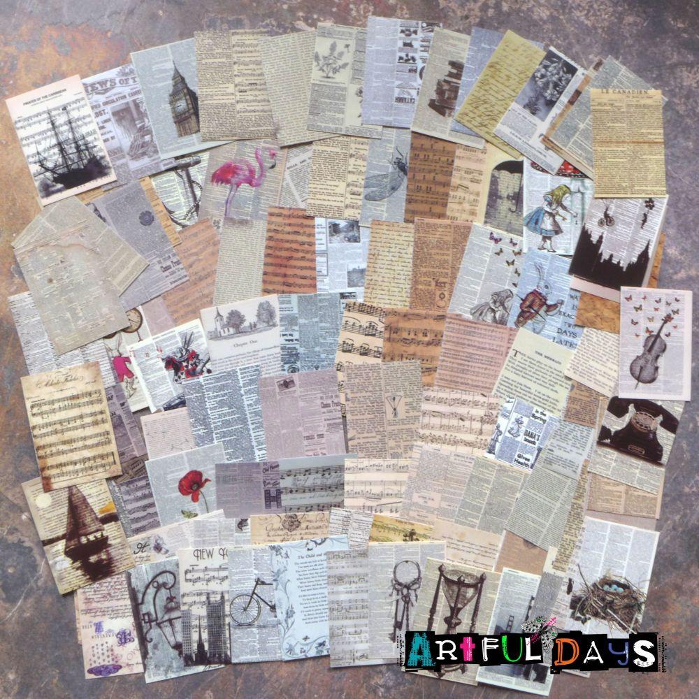 12 Mini Paper Vintage Envelopes (PA017)