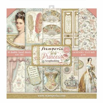 "Stamperia Princess 12 x 12"" Double sided Scrapbooking Papers"