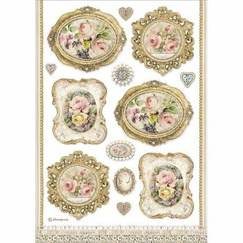 Stamperia Princess Rice Paper A4 Frames (DFSA4482)