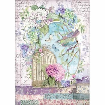 Stamperia Hortensia A4  Rice Paper Cage (DFSA4472)
