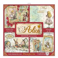 Stamperia Alice Gold Maxi Pad 12 x 12