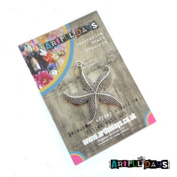 Large Silver Starfish Charm (C159)Sea Critters Collection