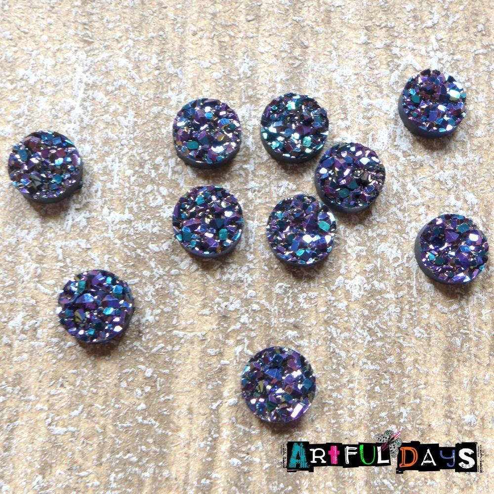 Bling - Purple Sparkle Cabochons (CA3017)