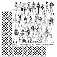 "Elements - Scrapbooking Paper 12 x 12"" - Independent woman"
