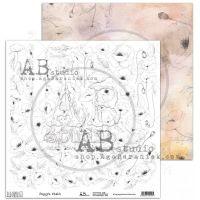 """Elements - Scrapbooking Paper 12 x 12"""" - Poppy's Field"""