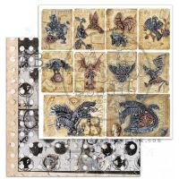 "Elements - Scrapbooking Paper 12 x 12"" - Steampunk Cards"