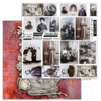 """Elements - Scrapbooking Paper 12 x 12"""" - Old fashion 01"""