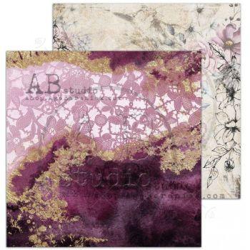 """Diva"" Scrapbooking Paper 12 x 12""- sheet 6-Flawles"