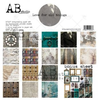 """Love for old things""- Scrapbooking Paper 12 x12"" + 1 Bonus Sheet Set"