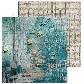 """Love for old things""- Scrapbooking Paper 12 x12"" Sheet 8 - Silence"