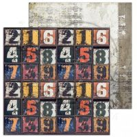 """""""Love for old things""""- Scrapbooking Paper 12 x12"""" Sheet 4 - Abacus"""