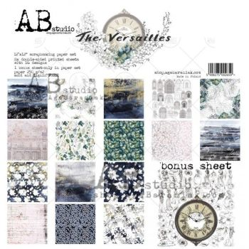 """The Versailles""- Scrapbooking Paper 12 x12"" + 1 Bonus Sheet Set"