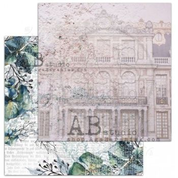 """The Versailles""- Scrapbooking Paper 12 x12"" Sheet 3 - Visiting The Versailles"