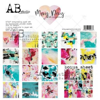 """May Day""- Scrapbooking Paper 12 x12"" + 1 Bonus Sheet Set"